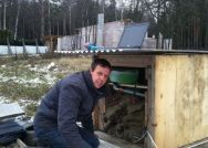 Geothermal response test in Moscow (self-built test equipment)